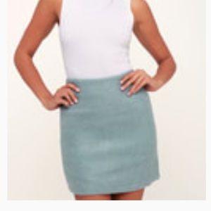 Lulu's light blue mini skirt